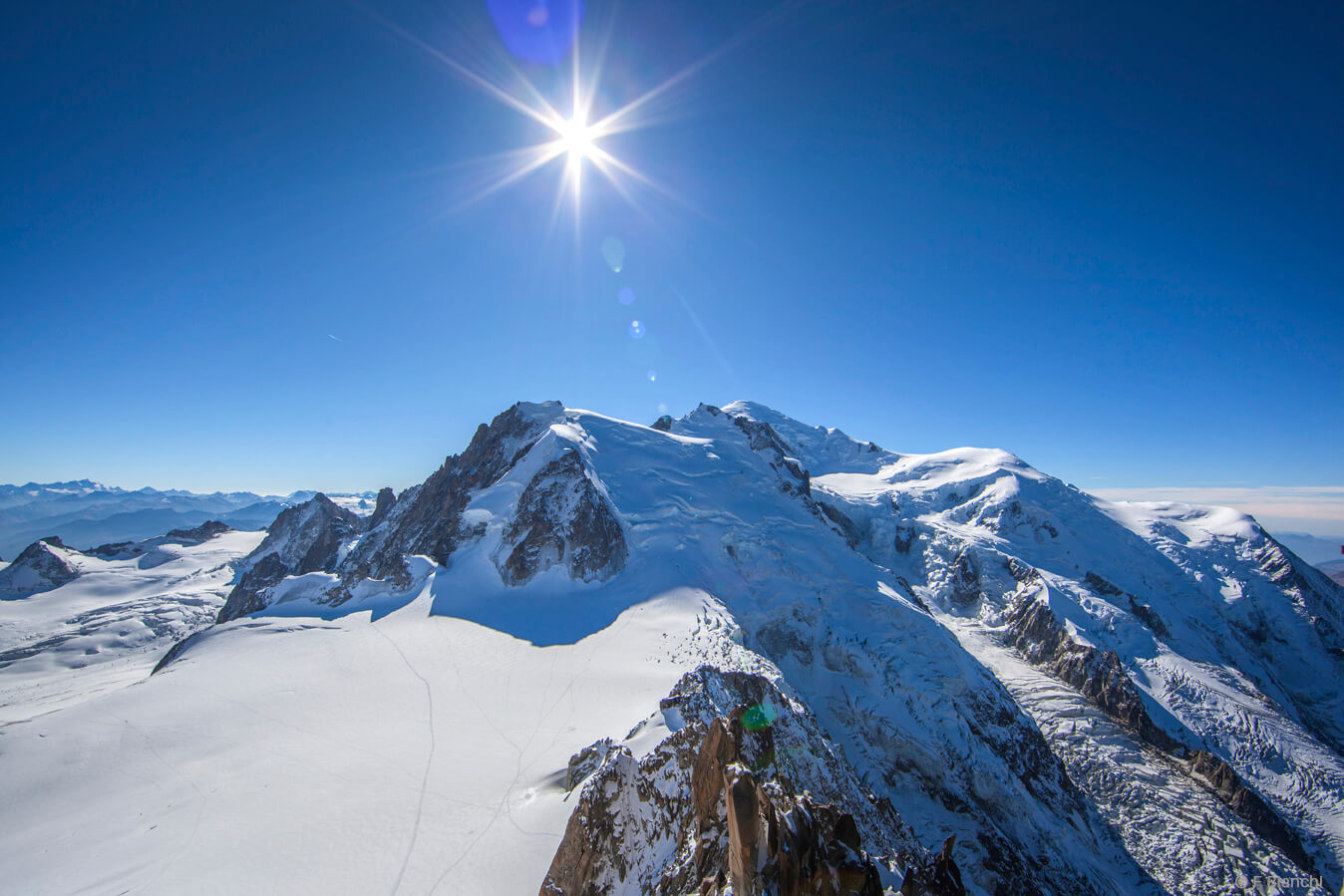 Seminaire vue Mont Blanc-Chamonix